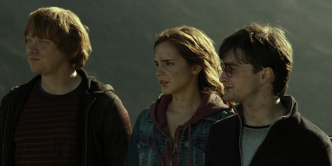 The Trio in the Deathly Hallows film