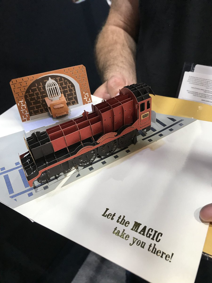 The inside of the Platform 9 3/4 card from Insight Editions is perfect for graduations!