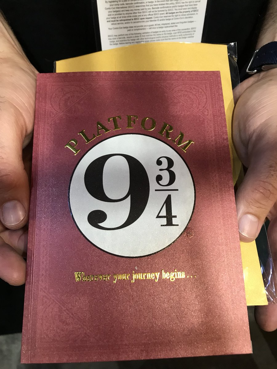 This beautiful Platform 9 3/4 card offers hope for a journey.