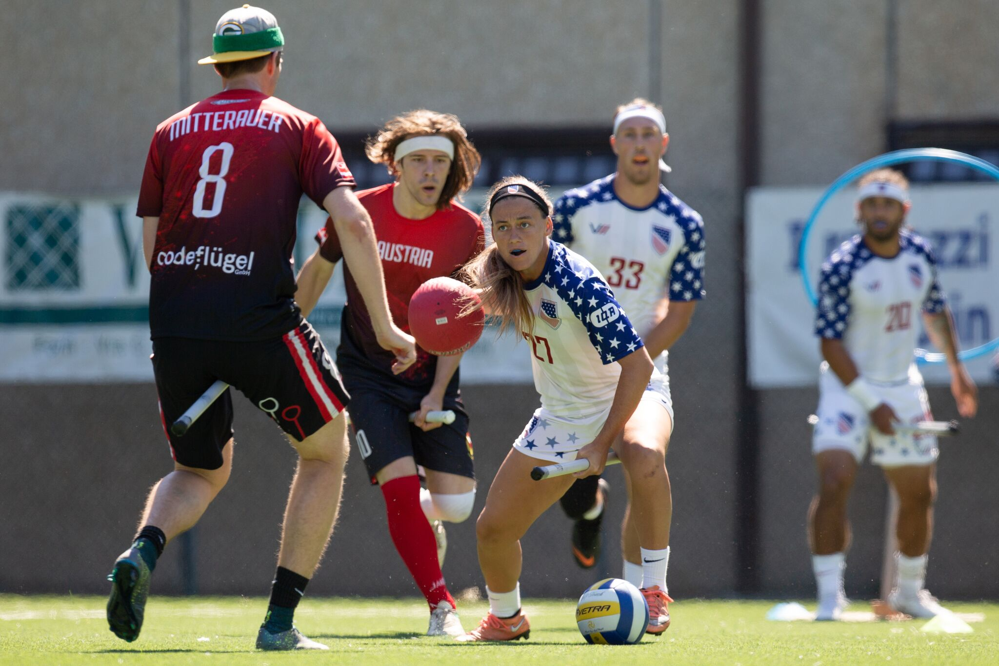 Beater Hallie Pace, during USA vs. Austria