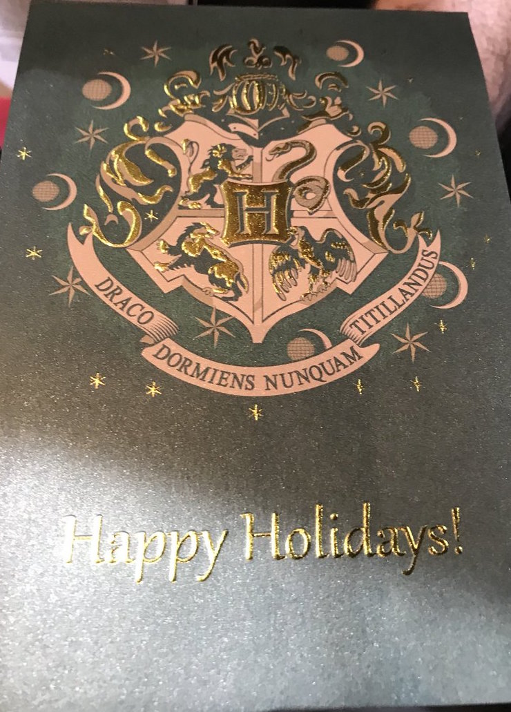 """""""Harry Potter"""" Christmas card from Insight Editions"""