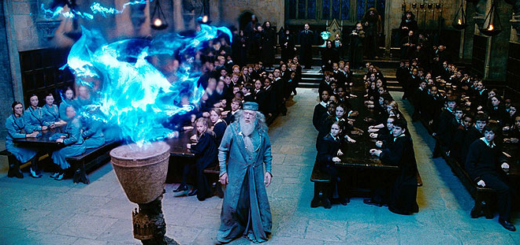 Dumbledore watching the Goblet of Fire