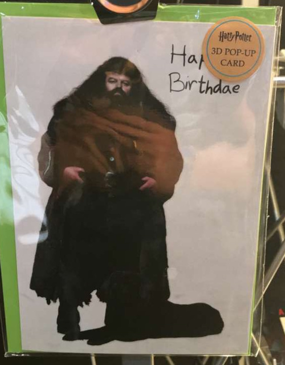 Wish someone a happy birthday Hagrid style with this cute card from Insight Editions!
