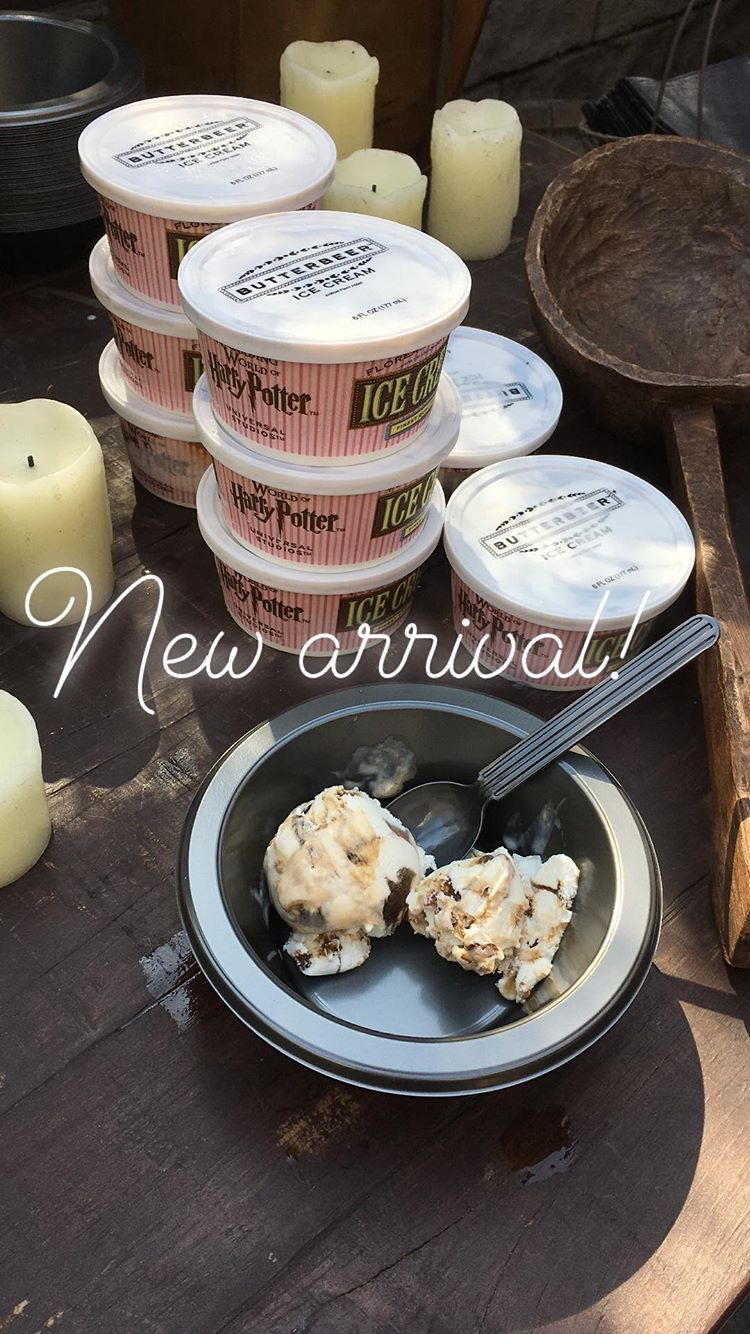 The newest arrival: butterbeer ice cream!