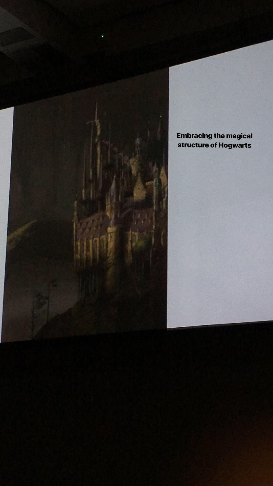 Jim Kay's depiction of Hogwarts in the illustrated editions