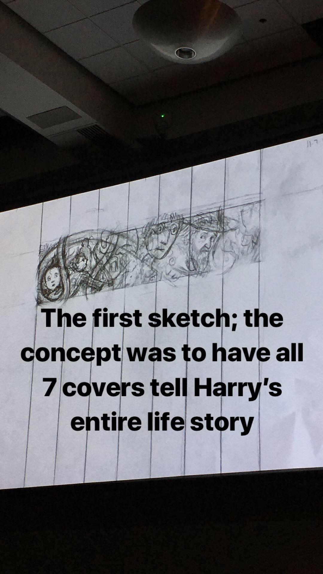 Brian Selznick's first sketch of the 20th-anniversary covers