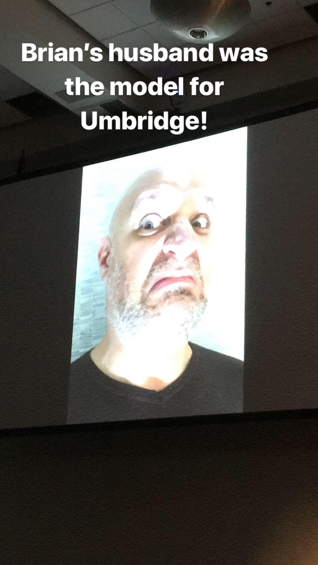 Brian Selznick's husband models for Professor Umbridge!