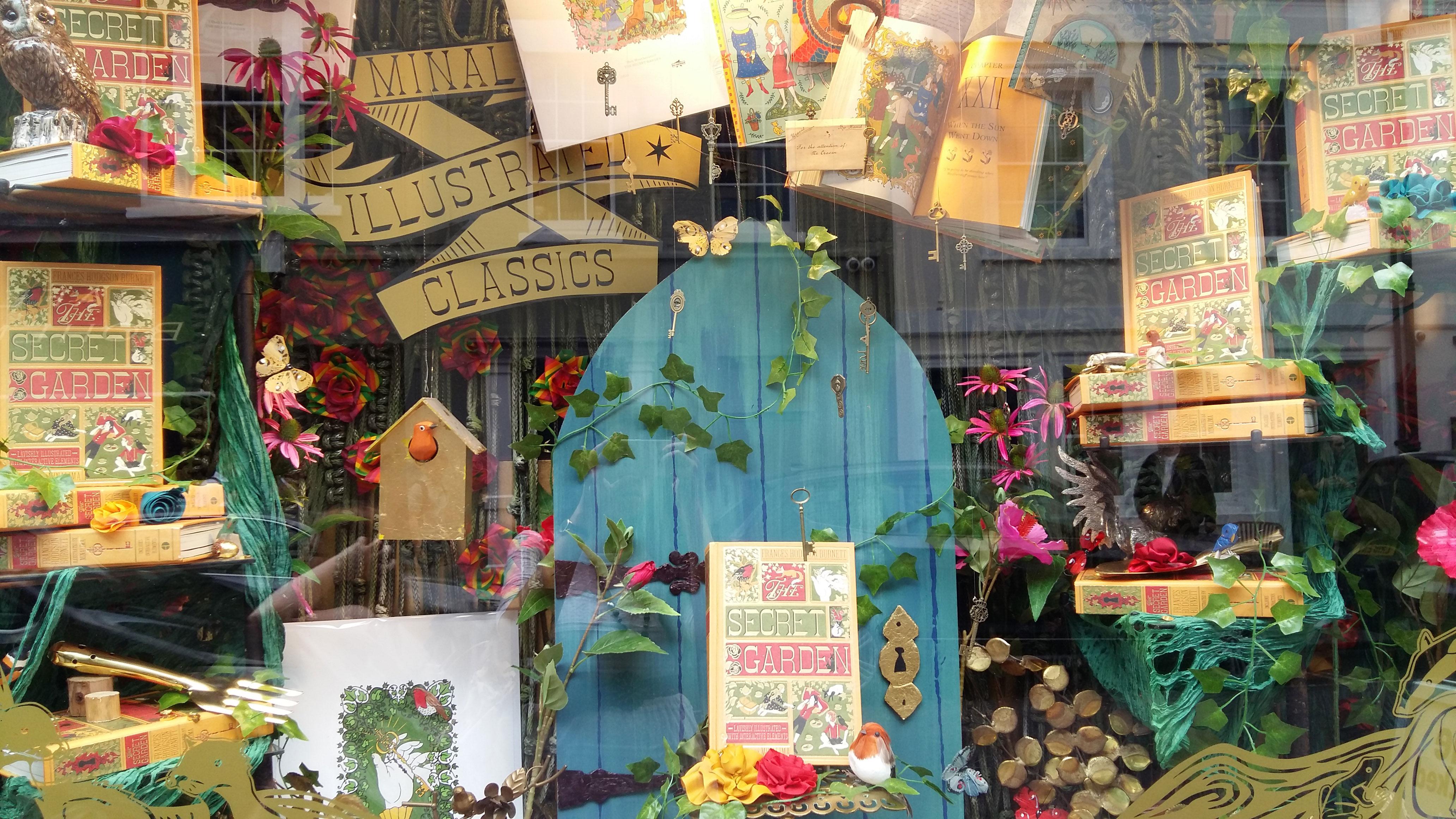 "House of MinaLima ""The Secret Garden"" window display"