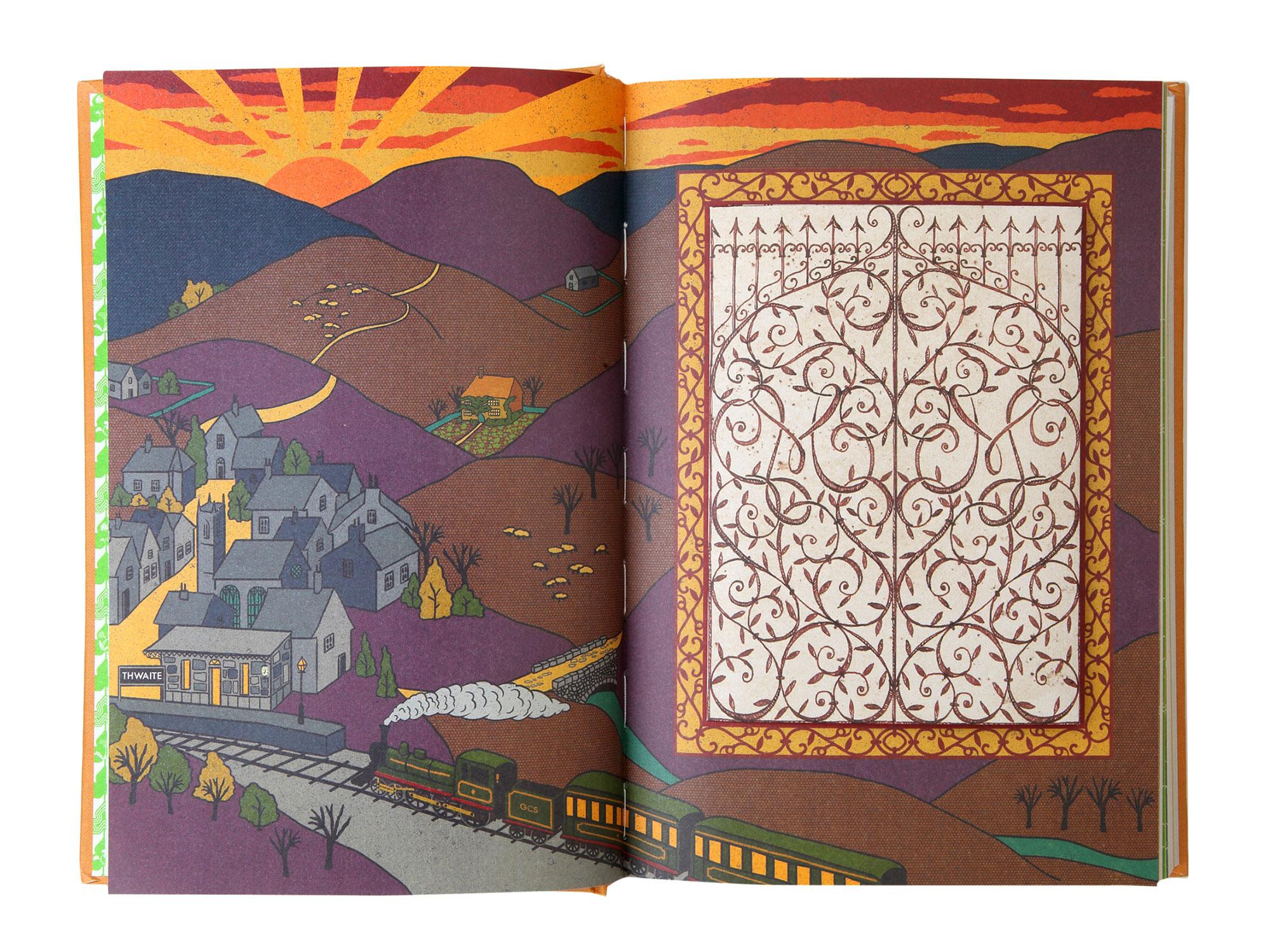 """MinaLima """"The Secret Garden"""" village map"""