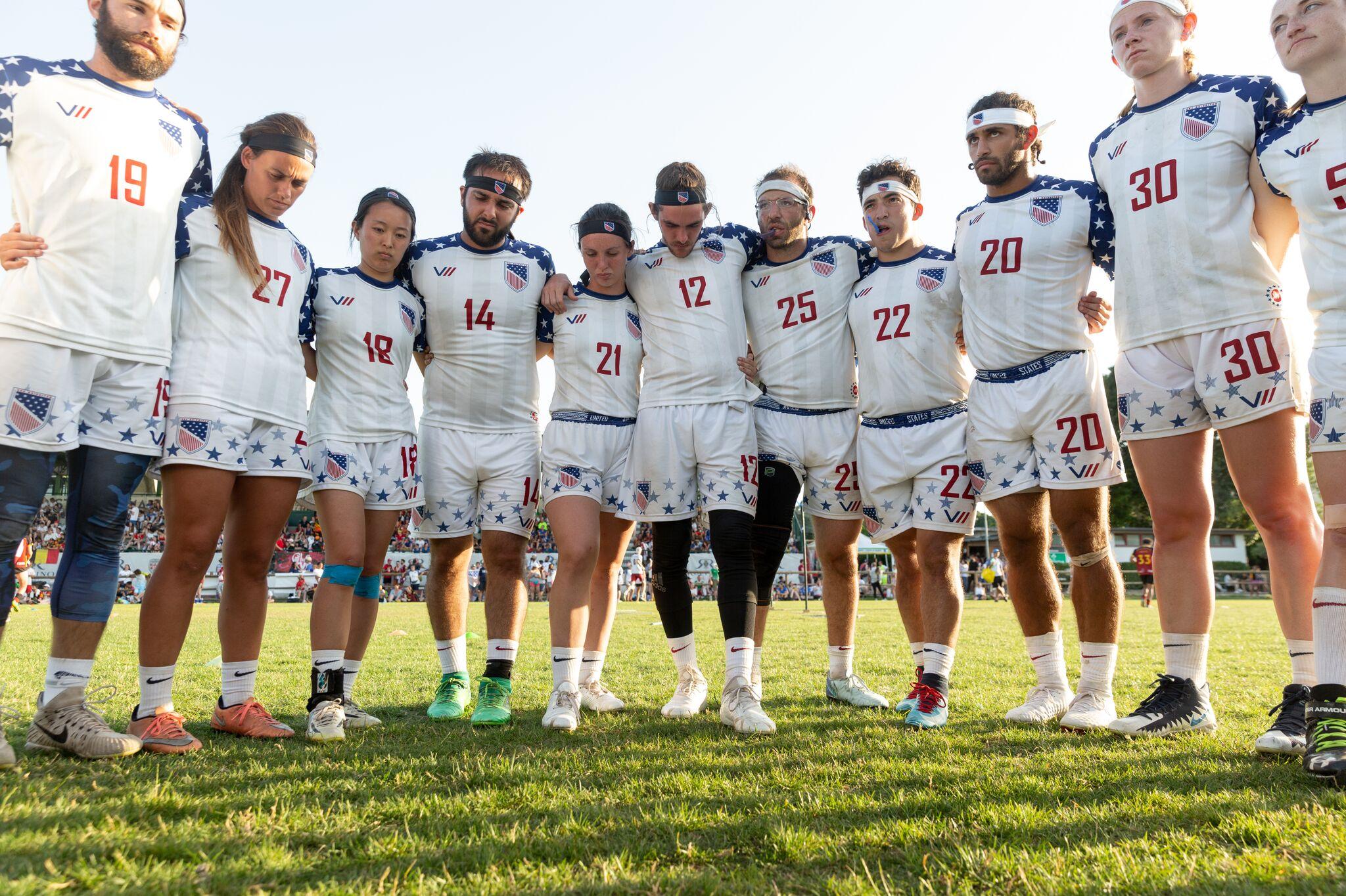 USA team before a game
