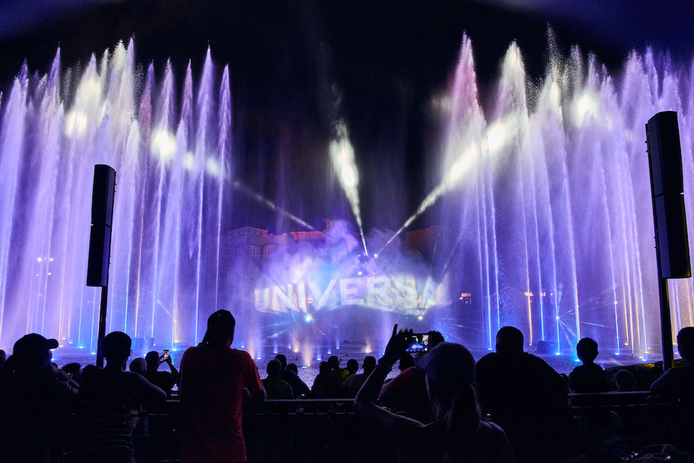 Guests can view the nighttime lagoon show from a new dedicated viewing area.