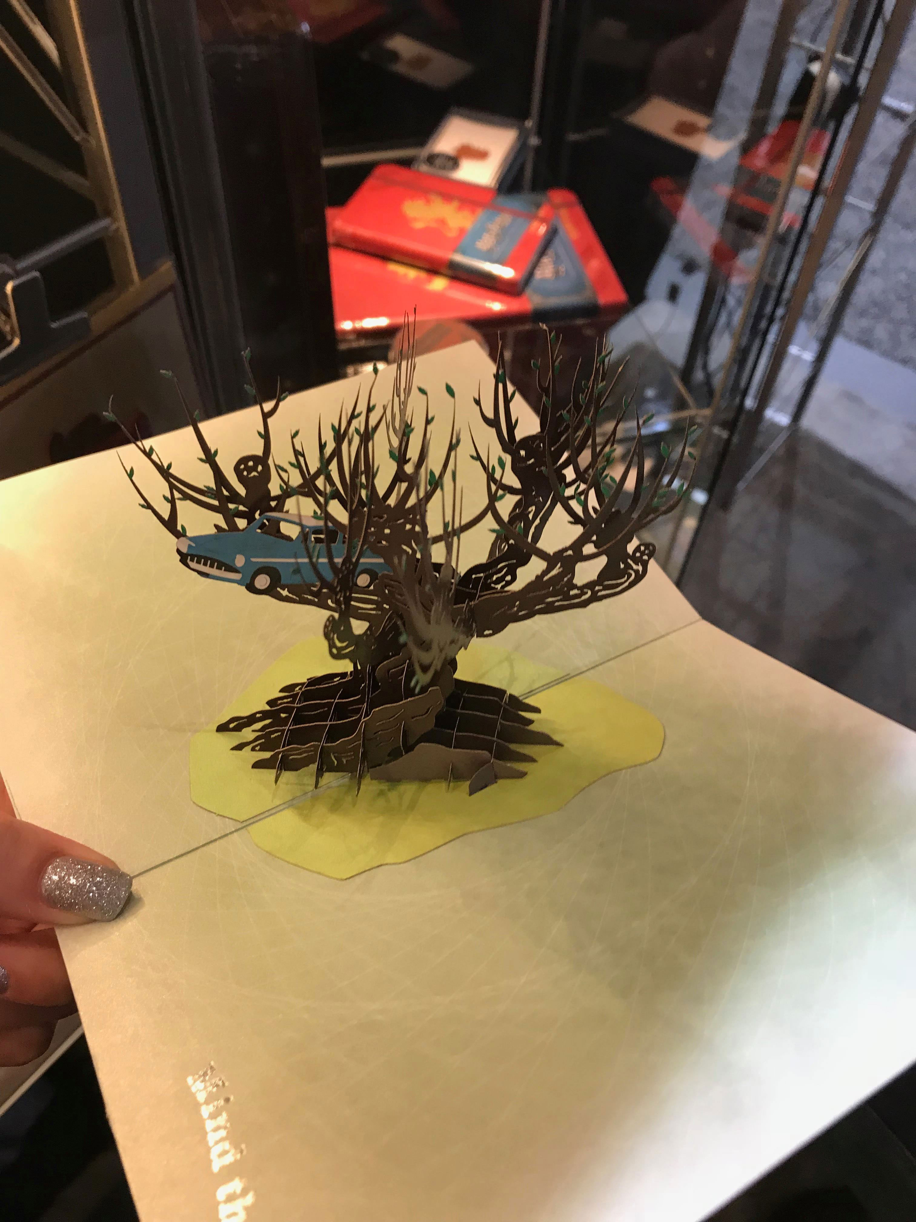 """""""Harry Potter"""" Whomping Willow card from Insight Editions encourages those to mind some of life's speed bumps!"""