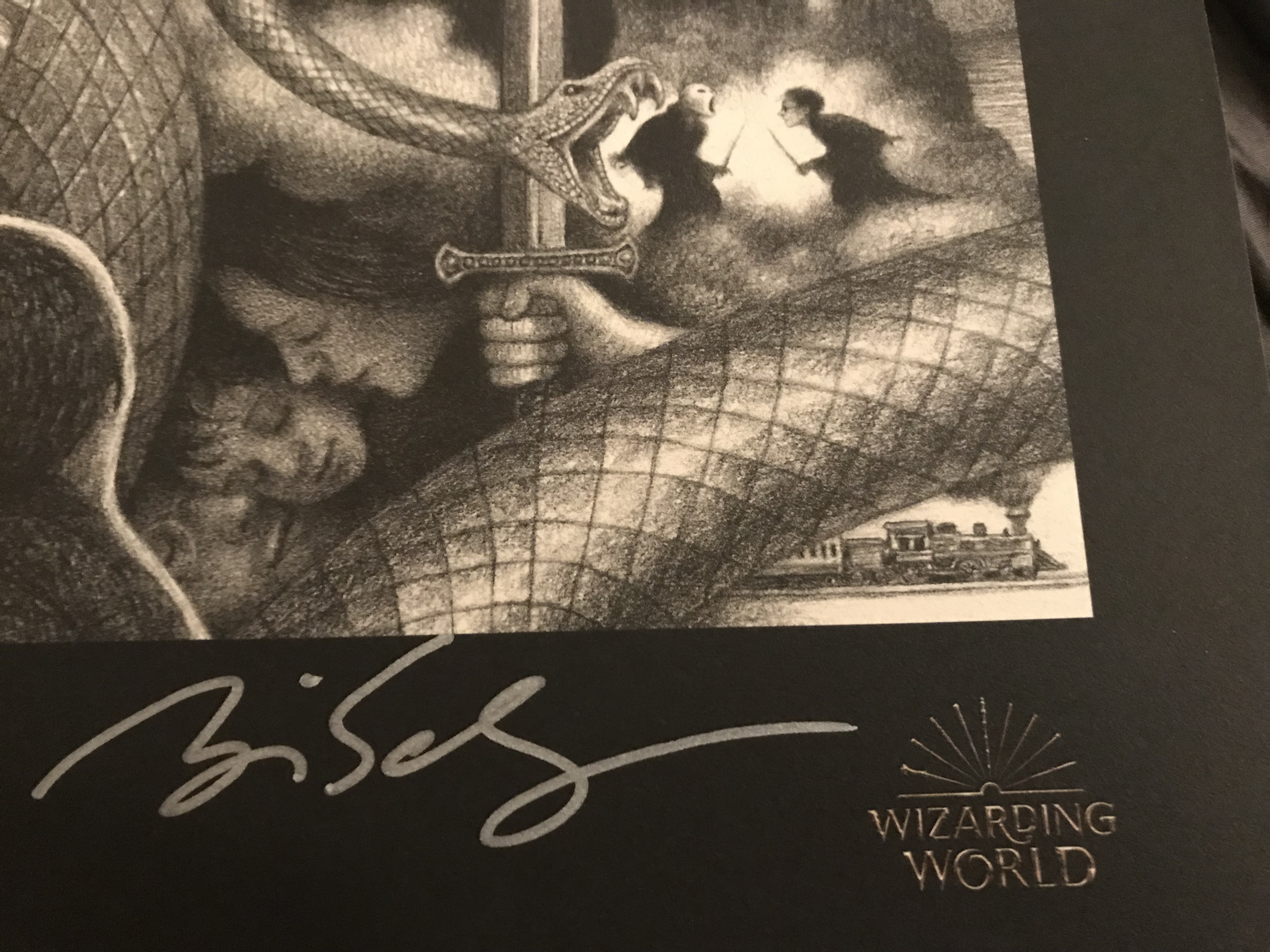 Brian Selznick-signed poster