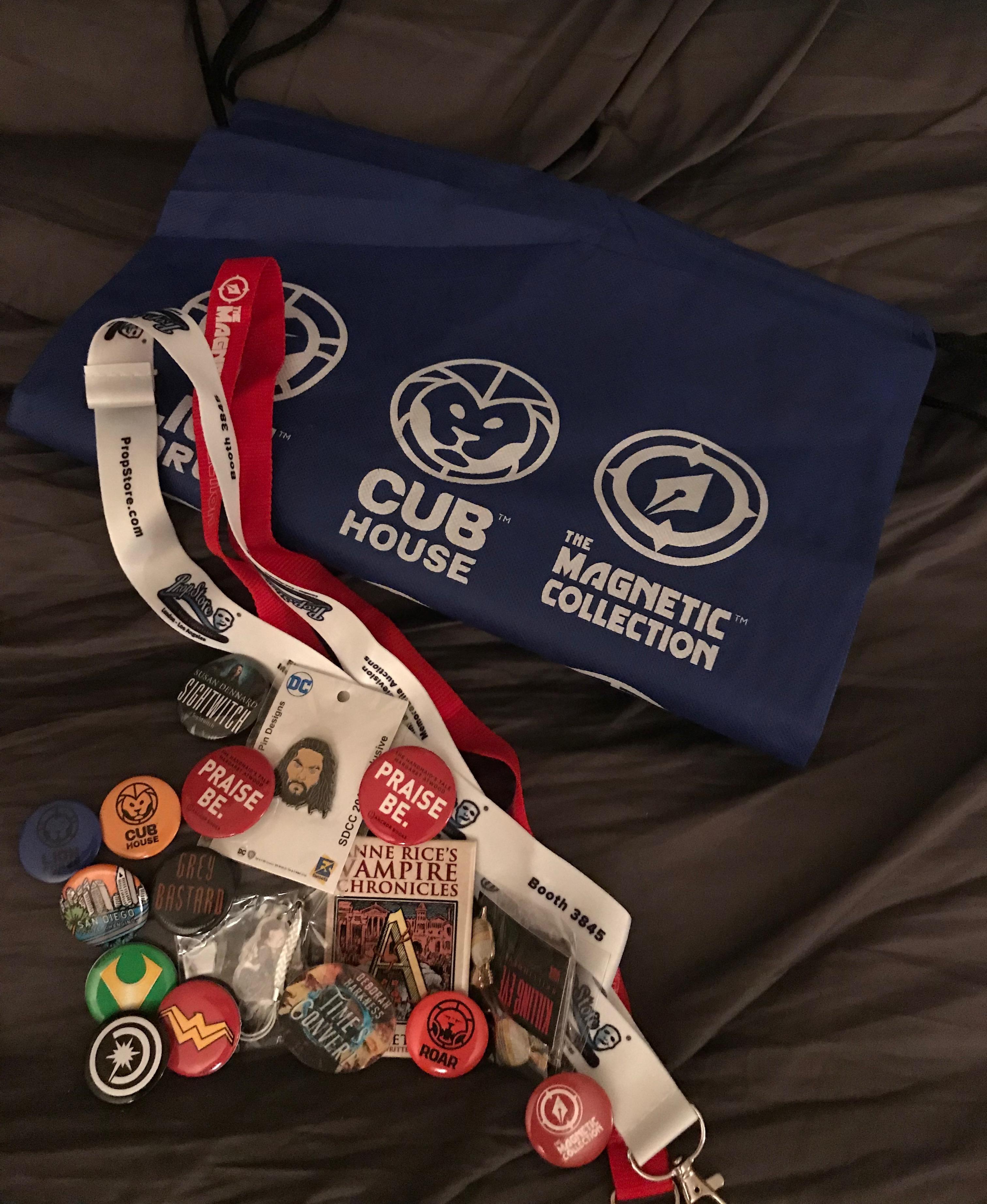 SDCC button packs