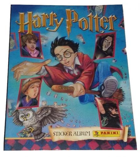 Merchandise like this sticker album from 2001 was soon replaced with designs featuring images from the films.