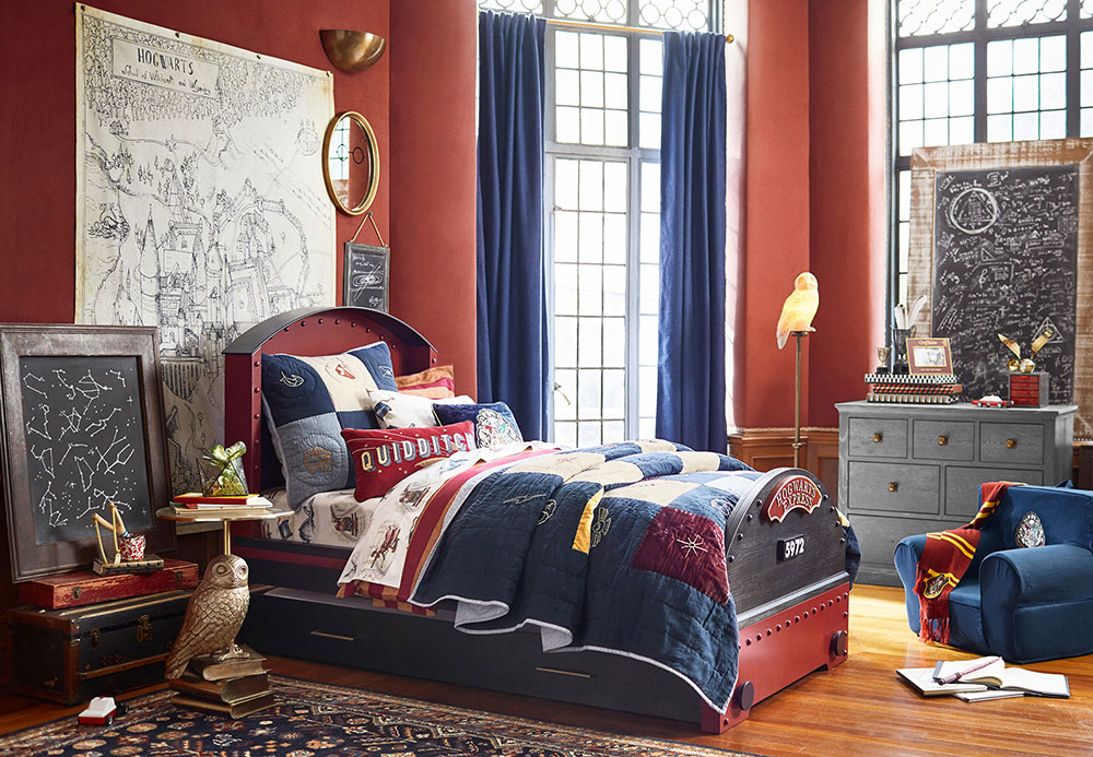Pottery Barn Kids train bedroom