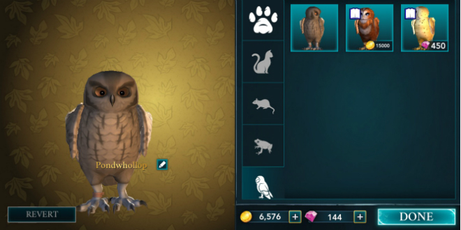 """Hogwarts Mystery"" players are now able to choose between four different types of owls: brown, auburn and white!"