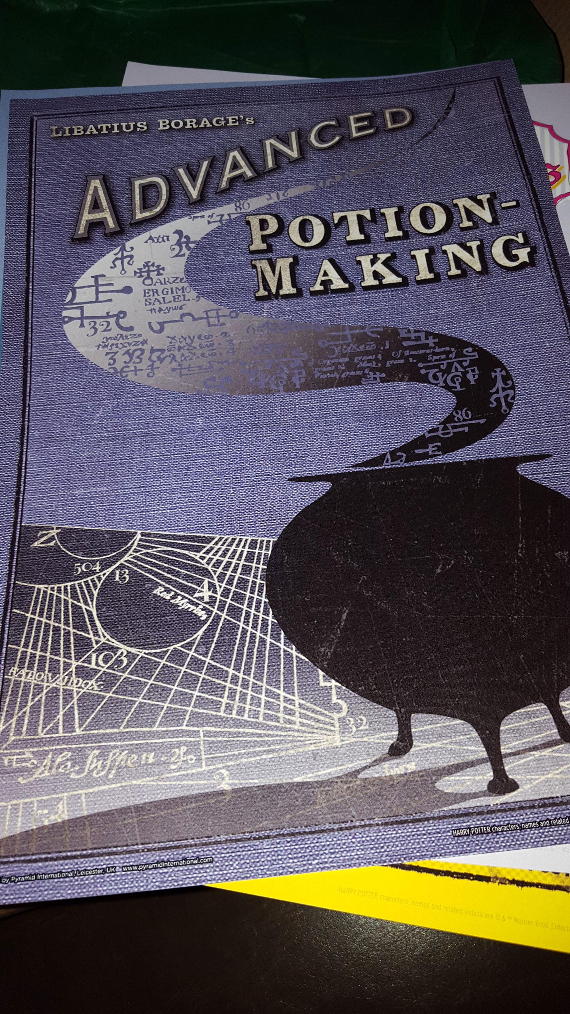 """Advanced Potion-Making"" MinaLima cover art"