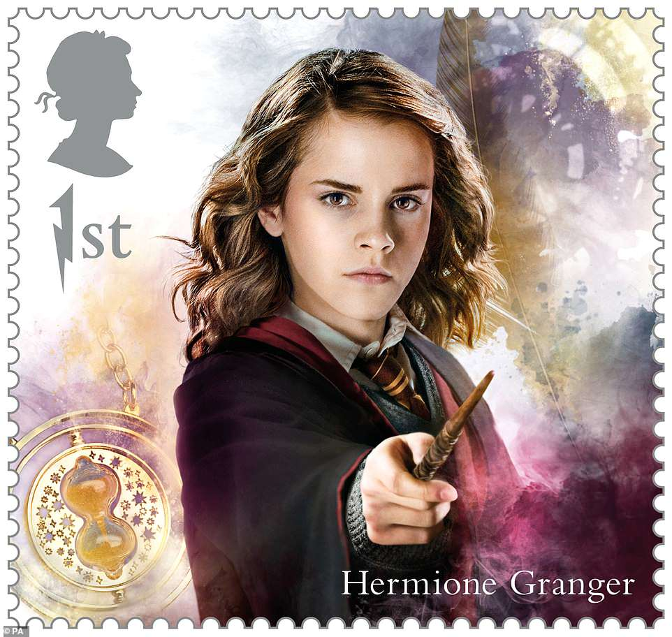 Hermione is featured with the infamous Time-Turner. At least we could see her punch Draco in the face a second time.