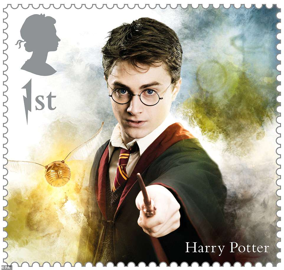 Harry is featured with the Golden Snitch. Who could ever forget that moment when he half swallowed it in his first Quidditch match?