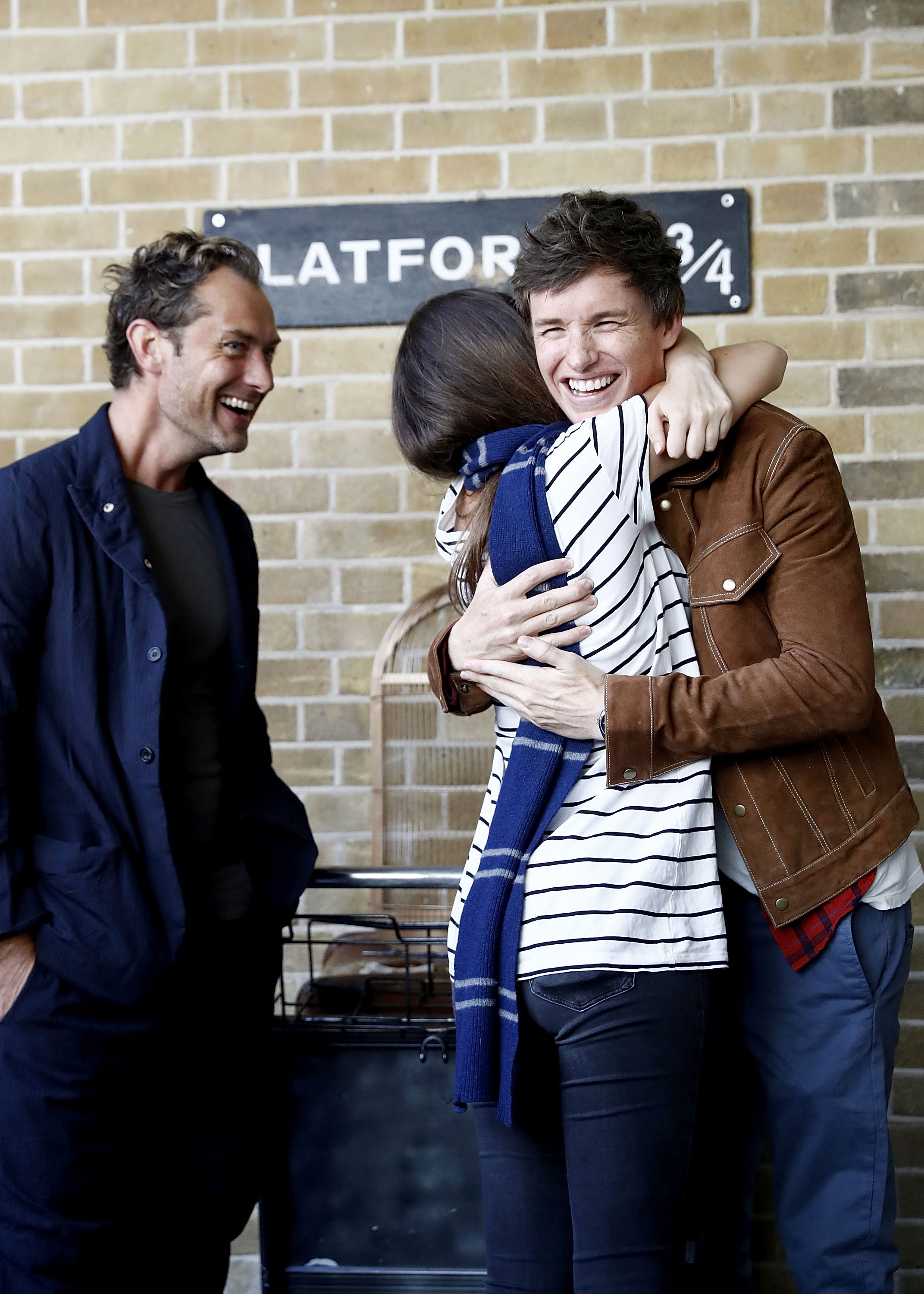 Redmayne's turn to get a hug from a lucky fan