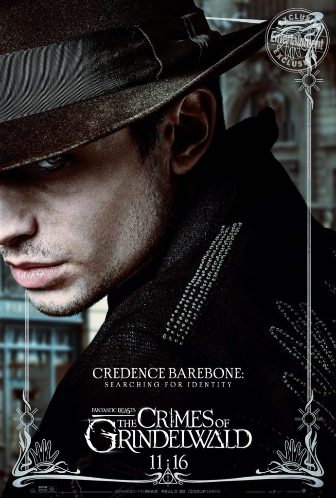 """Fantastic Beasts: The Crimes of Grindelwald"": Credence Barebone character poster"