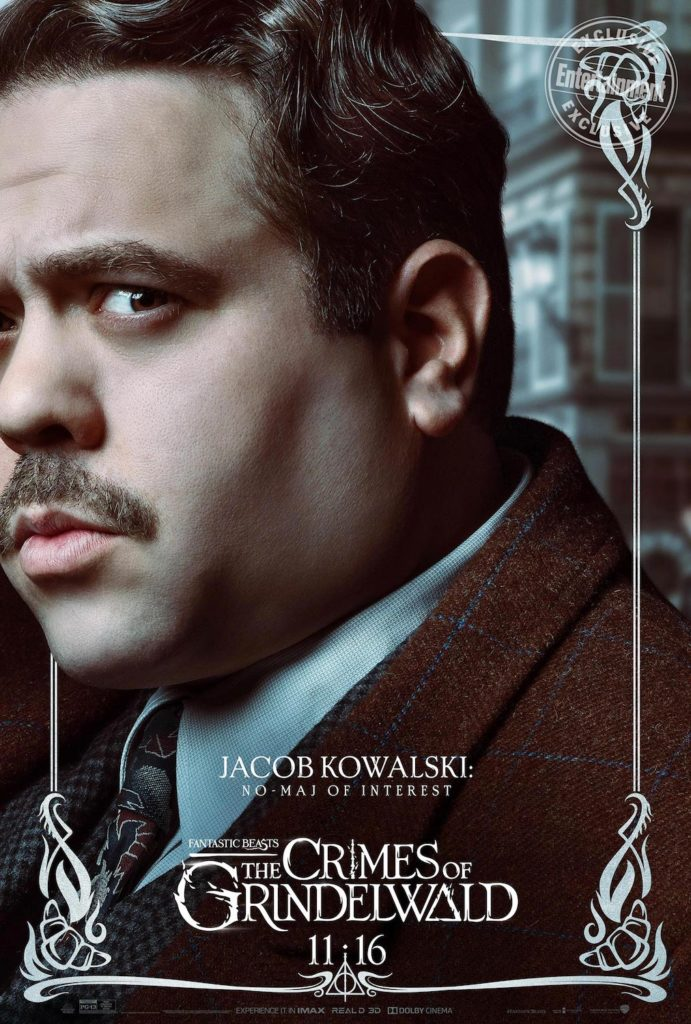 """Fantastic Beasts: The Crimes of Grindelwald"": Jacob Kowalski character poster"