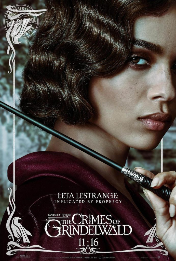 """Fantastic Beasts: The Crimes of Grindelwald"": Leta Lestrange character poster"