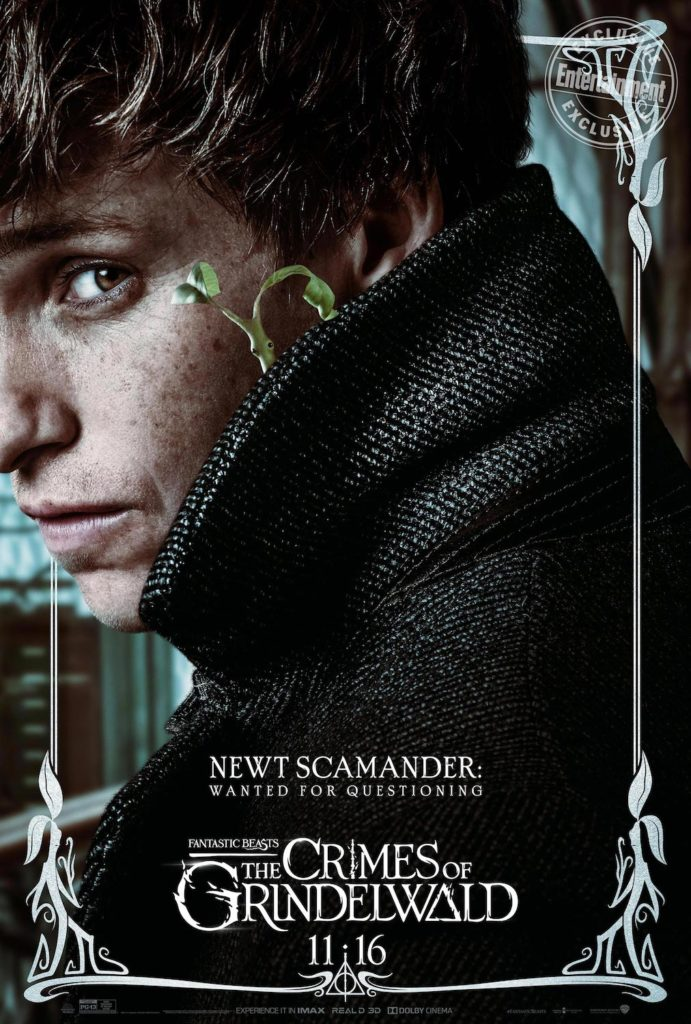 """Fantastic Beasts: The Crimes of Grindelwald"": Newt Scamander character poster"