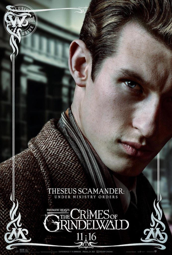 """Fantastic Beasts: The Crimes of Grindelwald"": Theseus Scamander character poster"