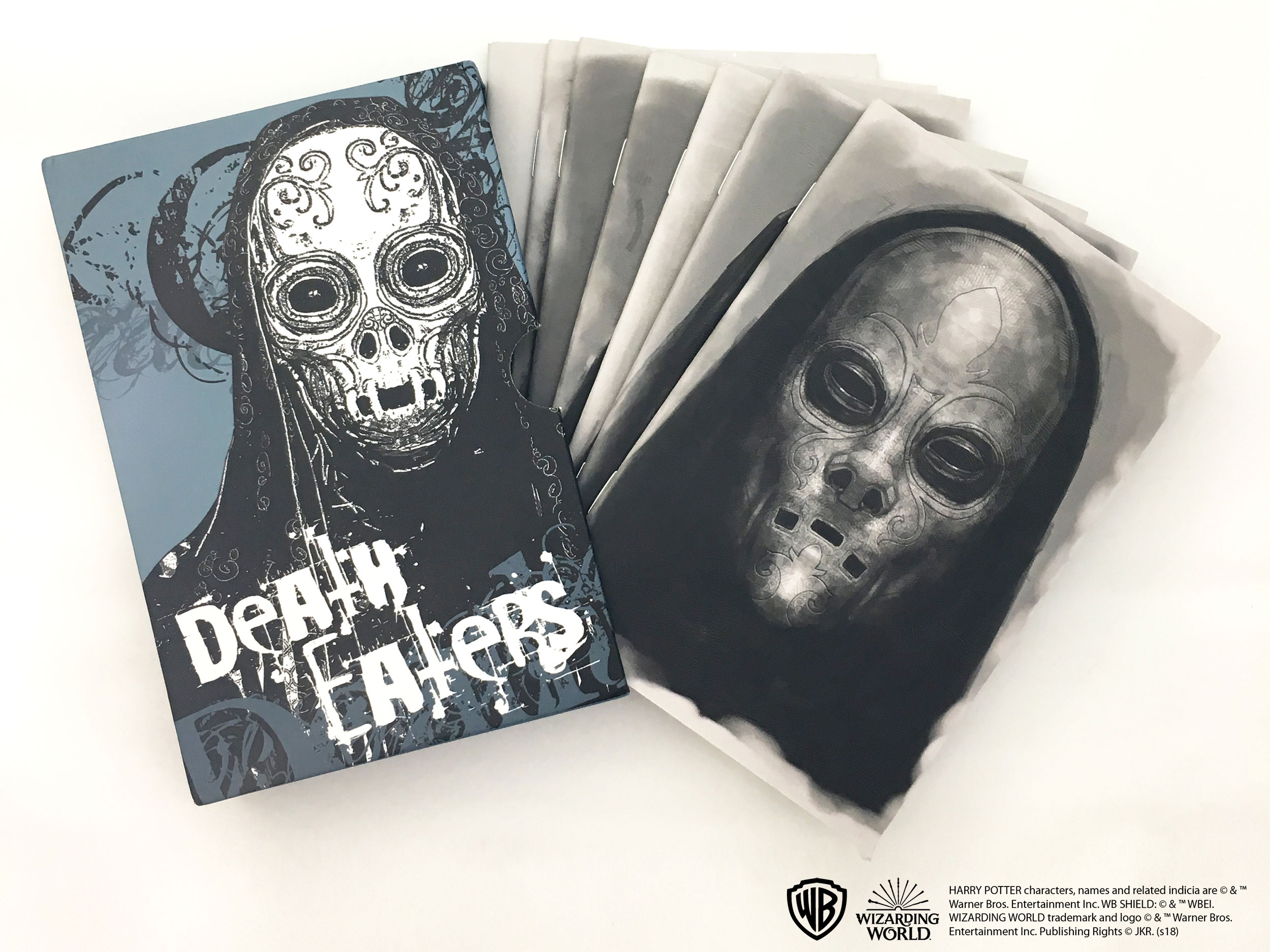 Dark Arts Con*Quest Journals featuring Death Eater masks