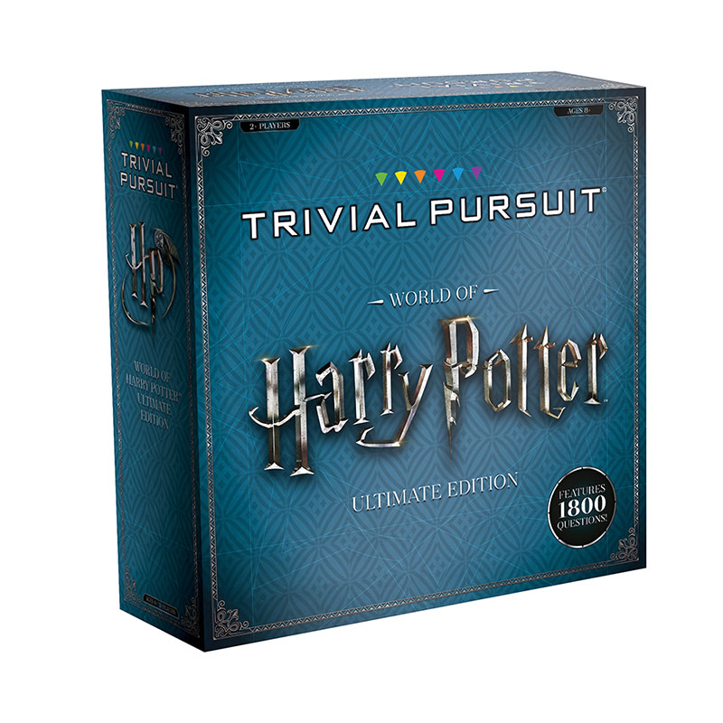 Trivial Pursuit: World of Harry Potter box cover, side view