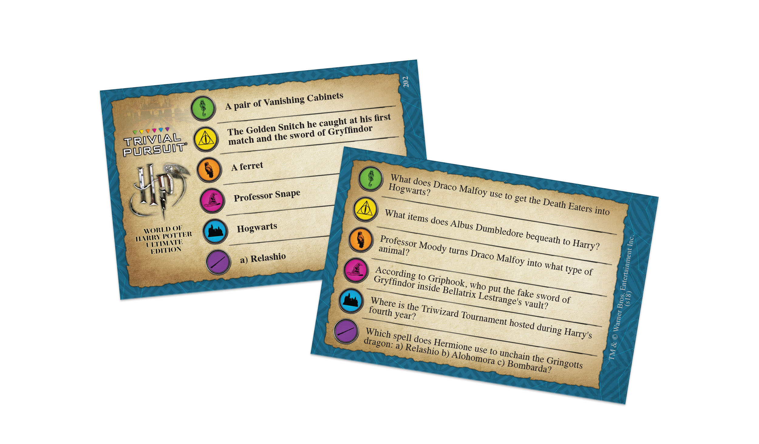 Trivial Pursuit: World of Harry Potter card example
