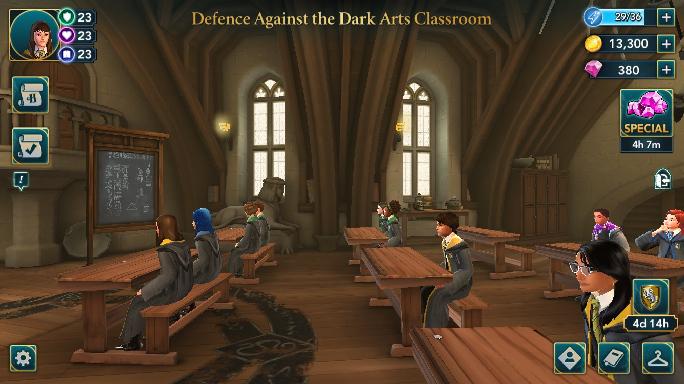 Year 5 opens with the first playable Defense Against the Dark Arts lesson.