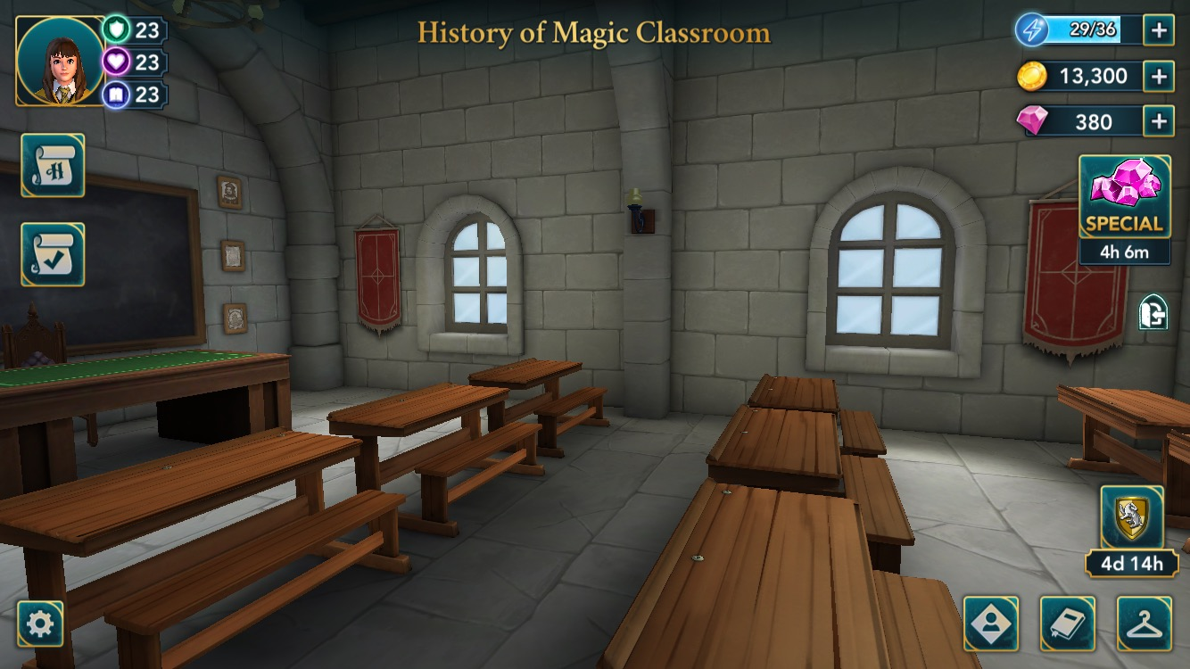 Players will soon get their first History of Magic lesson, taught by Professor Binns.