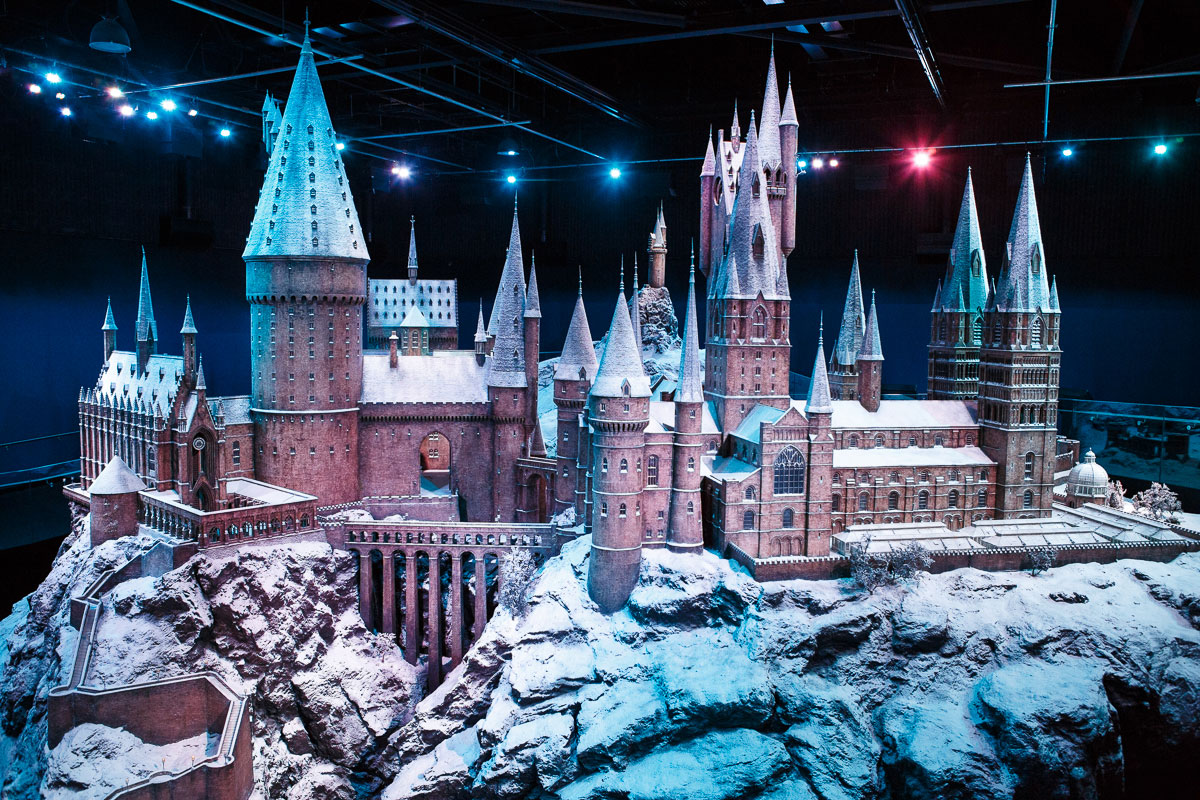Hogwarts blanketed in snow