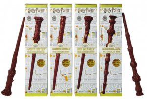 Jelly Belly's Harry Potter chocolate wands are featured.
