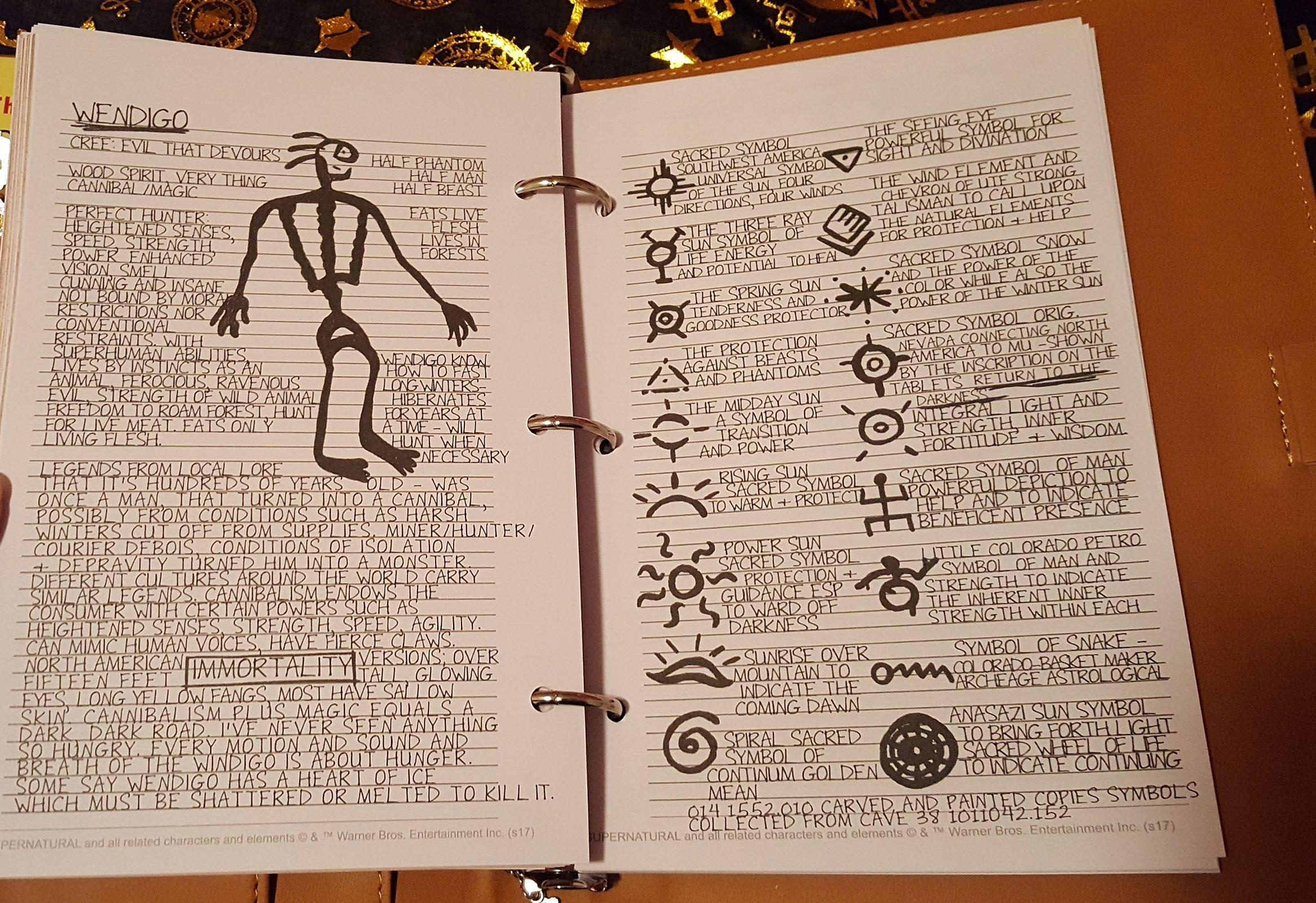 John Winchester's journal entries, Wendigo