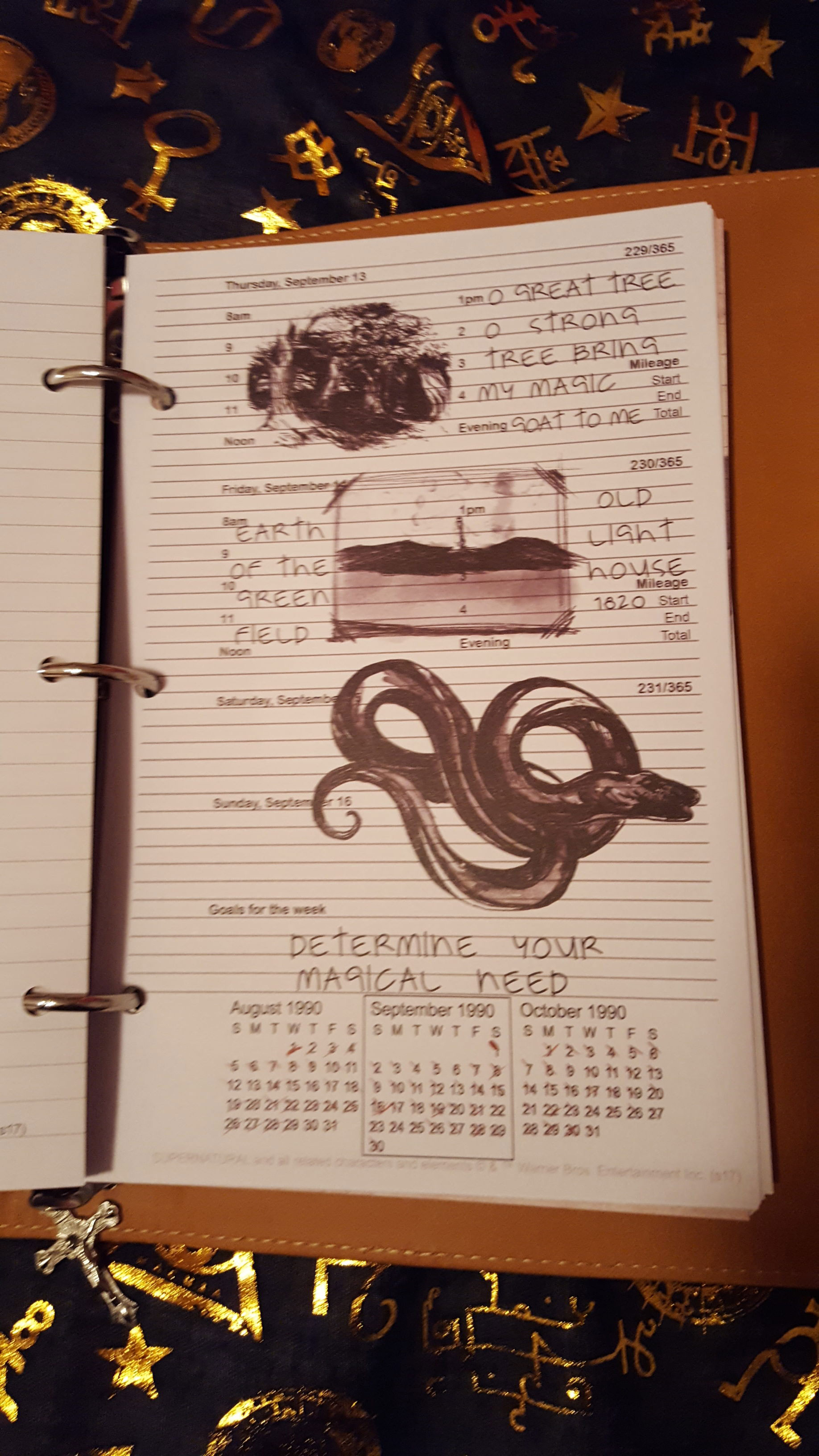 John Winchester's journal entries