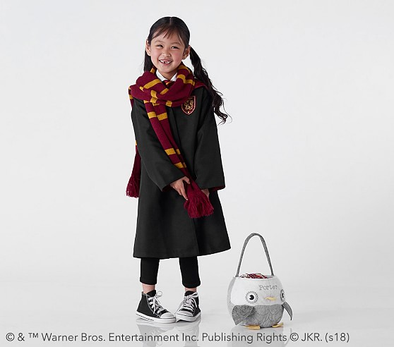 The adorable Gryffindor costume comes with the House cloak, tie, and scarf.