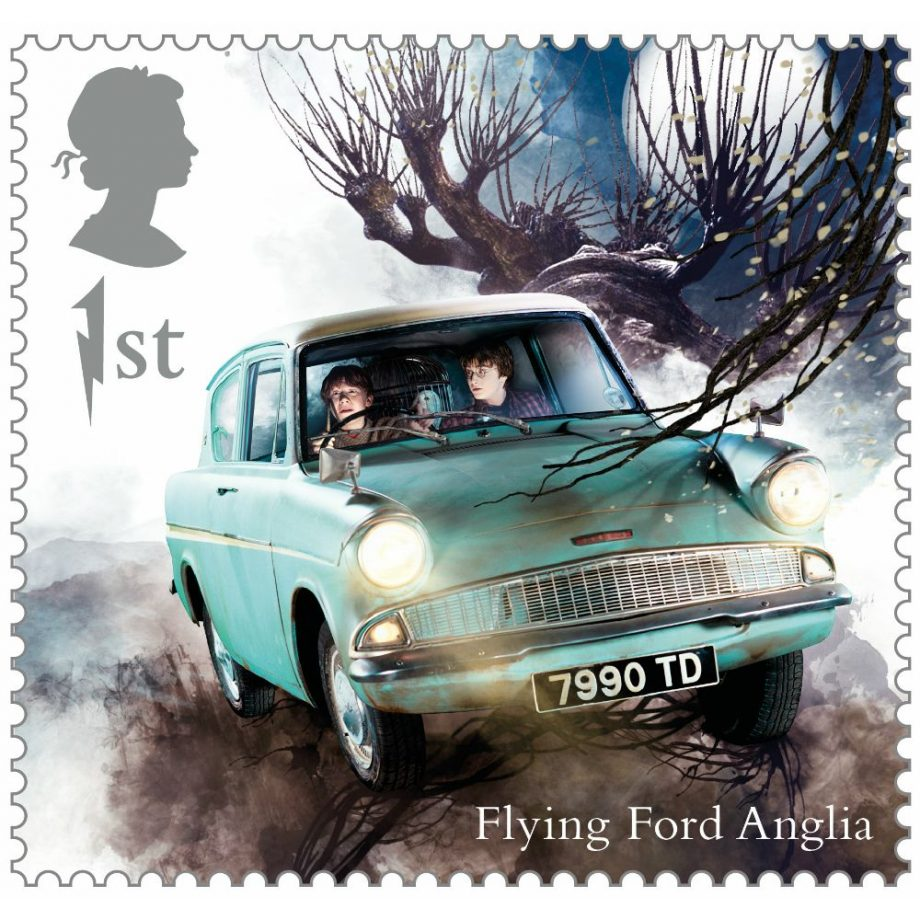 The Flying Ford Anglia is also featured, complete with Ron and Harry inside as they arrive for their second year at Hogwarts. Watch out for that tree!