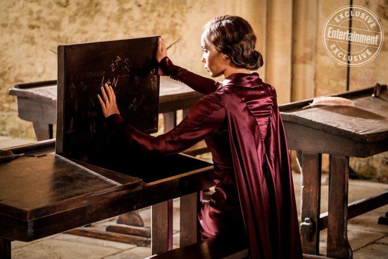 """""""L+N"""" is scratched into Leta's old Hogwarts desk…"""