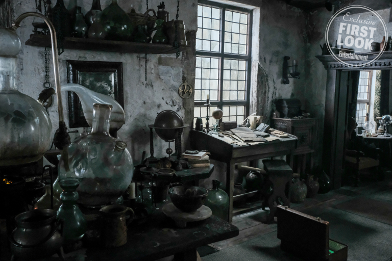For someone who has been alive for hundreds of years, Flamel's home appears to be something of an organized mess.