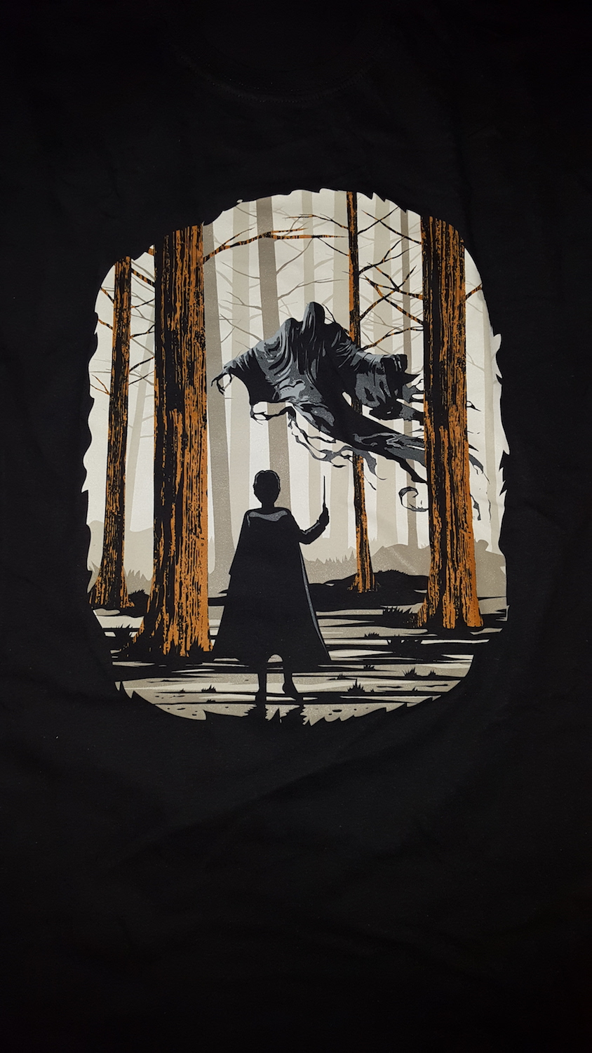 Sticking with a Patronus theme, the third T-shirt showed a Dementor scene.