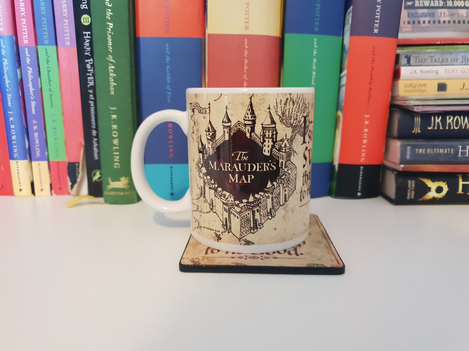 Another item in this box was a Marauder's Map mug.