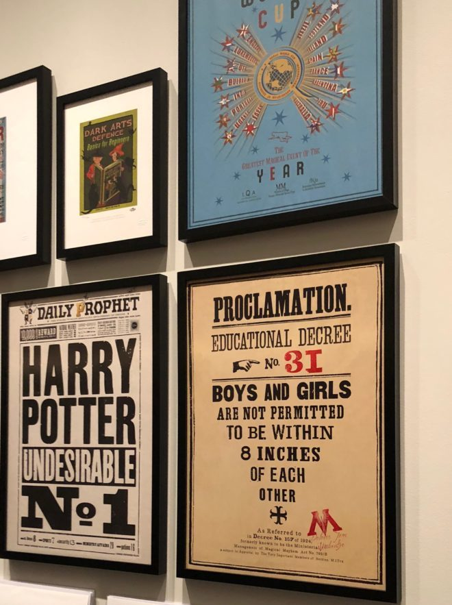 Sample of the posters available in the exhibition gift shop