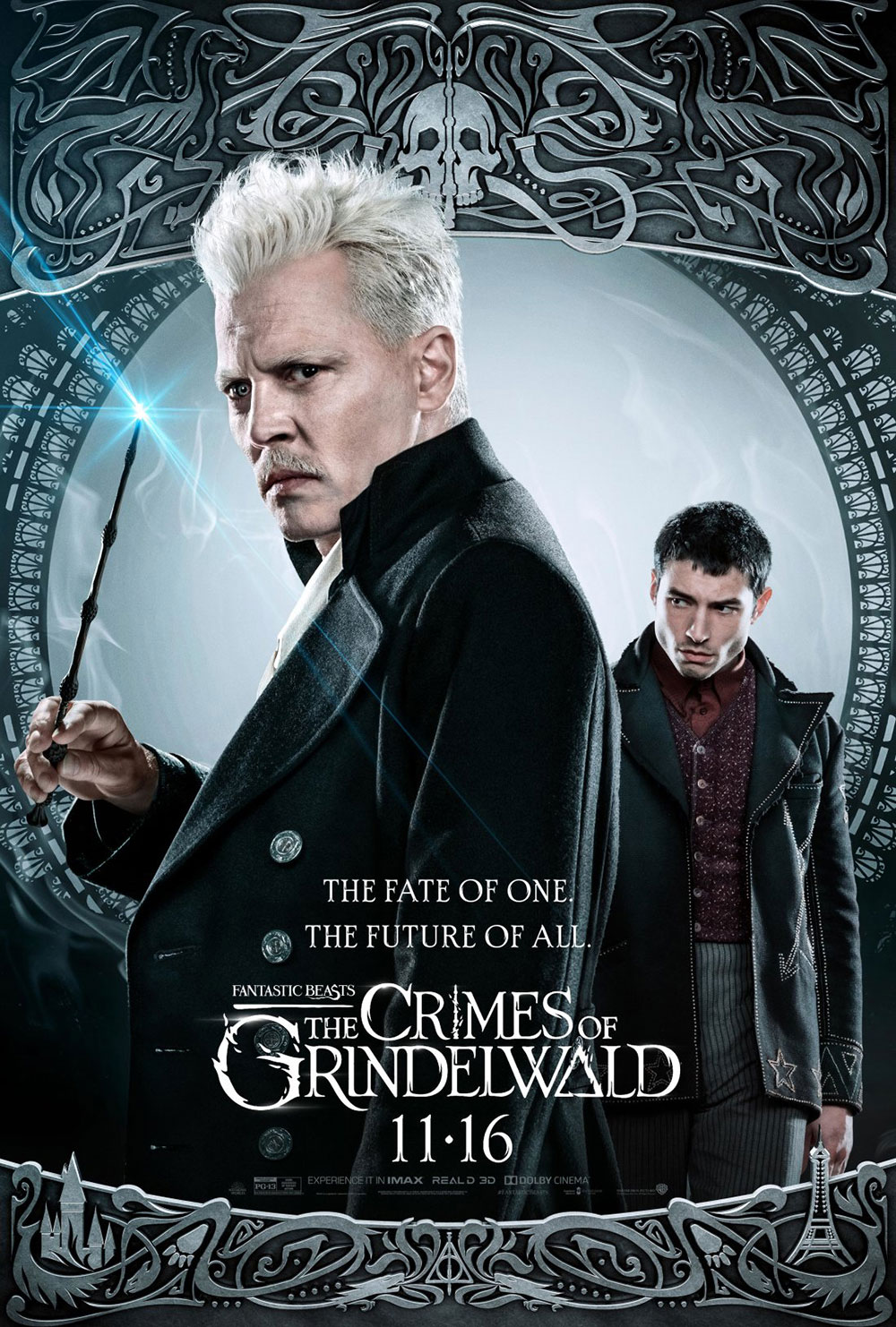 """Fantastic Beasts: The Crimes of Grindelwald"": Grindelwald and Credence character poster"