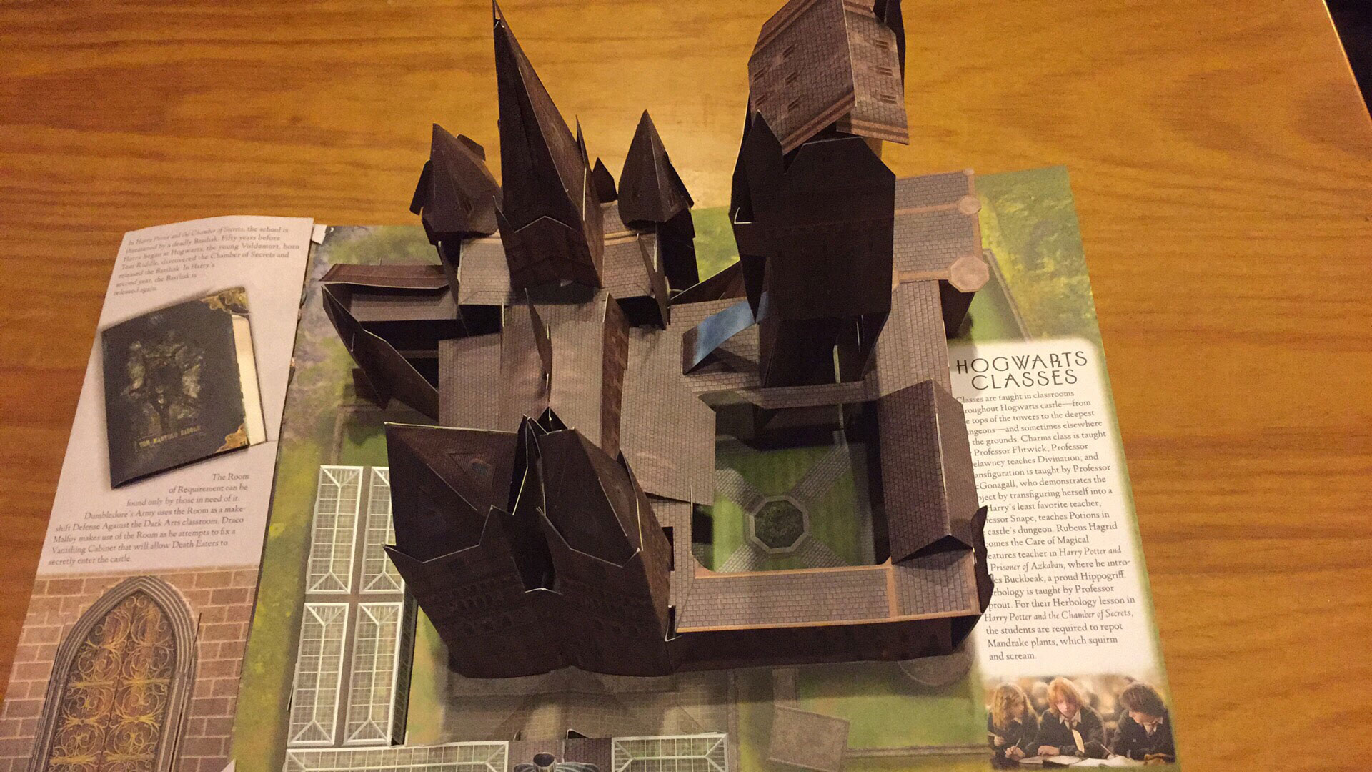 "Inside page of ""Harry Potter: A Pop-Up Guide to Hogwarts"", featuring Hogwarts Castle pop-up"