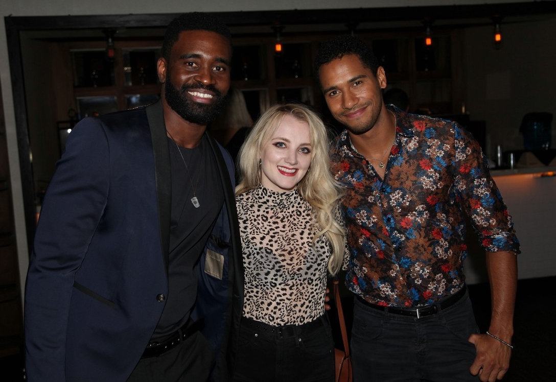 Keo Motsepe, Evanna Lynch, and Elliot Knight at Dancing with Keo launch event