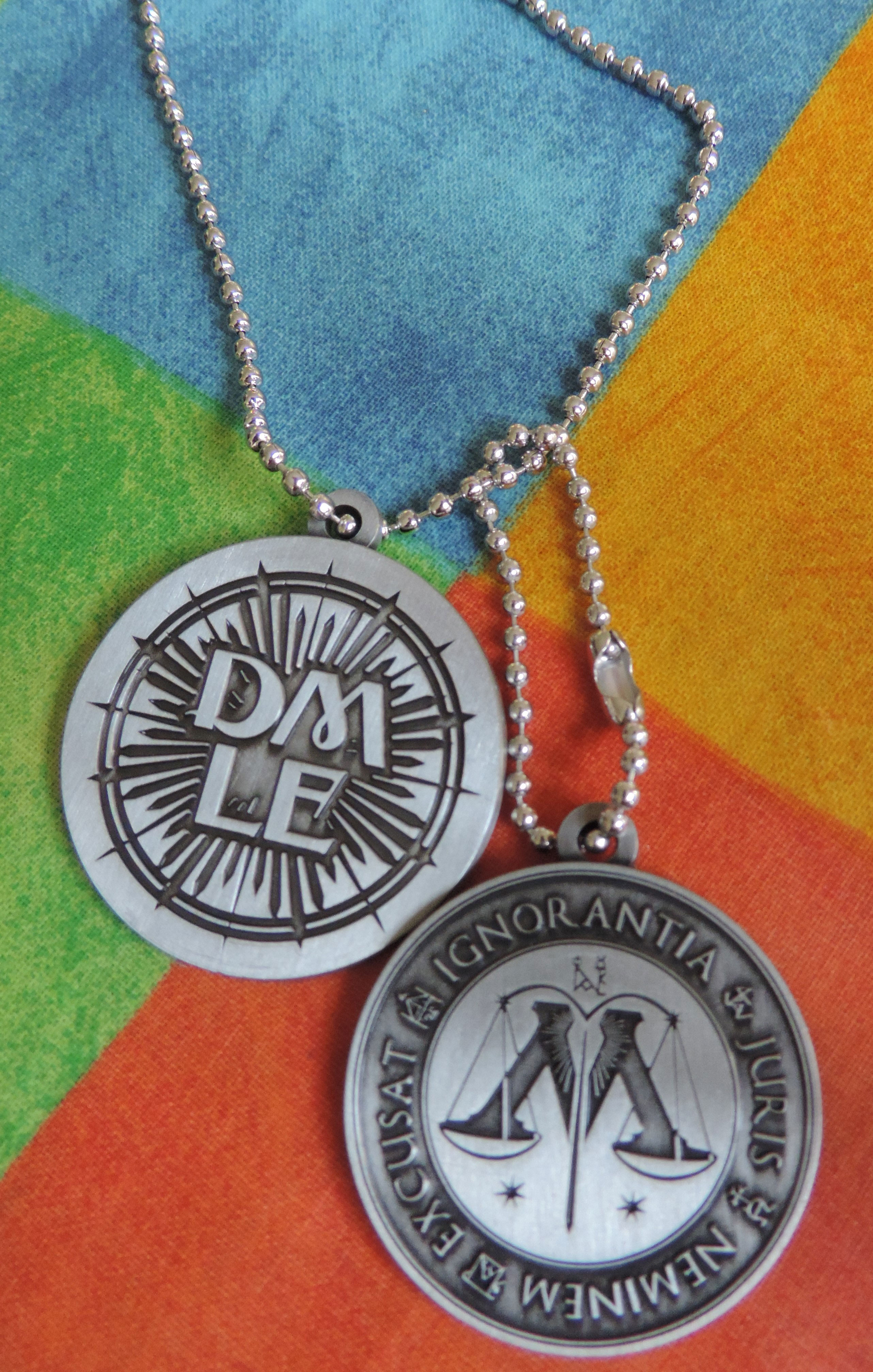 GB Posters Ministry of Magic and DMLE dogtag pendant